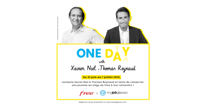 Concours exceptionnel : One day with Xavier Niel & Thomas Reynaud !